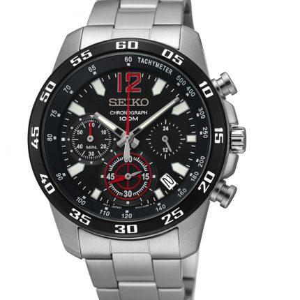 Ρολόι ανδρικό χρονογράφος SEIKO SSB129P1 με μπρασελέ