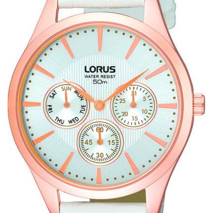 Ρολόι Γυναικείο Lorus RP694AX9 με Λευκο Δερματινο Λουρακι