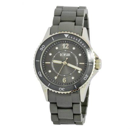 Γυναικείο ρολόι LOISIR 11L07-00209 με γκρι σκούρο πλαστικό μπρασελέ