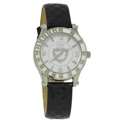 Γυναικείο ρολόι LOISIR 11L06-00329 με μαύρο δερμάτινο λουράκι