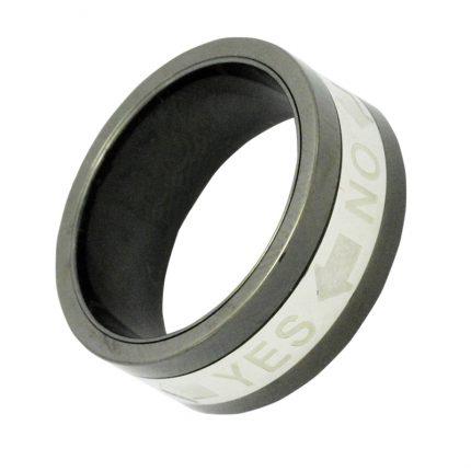 Ατσάλι ανδρικό δαχτυλίδι LOISIR 04L03-00077