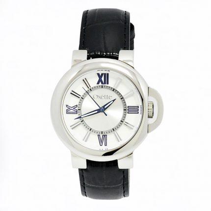 Unisex ρολόι OXETTE 11X06-00465 με μαύρο δερμάτινο λουράκι