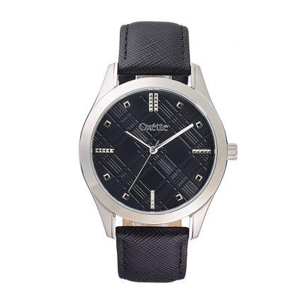 Ρολόι OXETTE 11X06-00466 γυναικείο με μαύρο δερμάτινο λουράκι