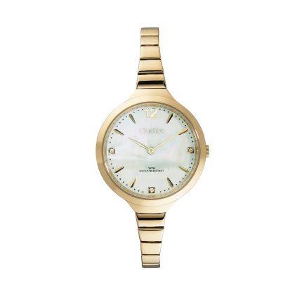 Γυναικείο ρολόι με μπρασελέ σε κίτρινο χρυσό OXETTE 11X05-00459