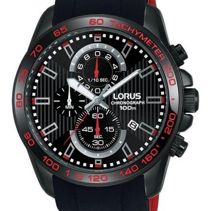 Ανδρικό ρολόι χρονογράφος με καουτσούκ λουράκι LORUS RM387CX9