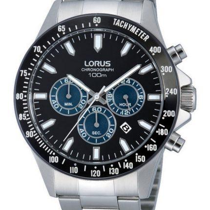 Ρολόι ανδρικό χρονογράφος μπρασελέ LORUS RT375DX9