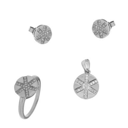 Ασημενια Κοσμηματα Σετ με Δαχτυλιδι, Μενταγιον και Σκουλαρικια THE PRECIOUS