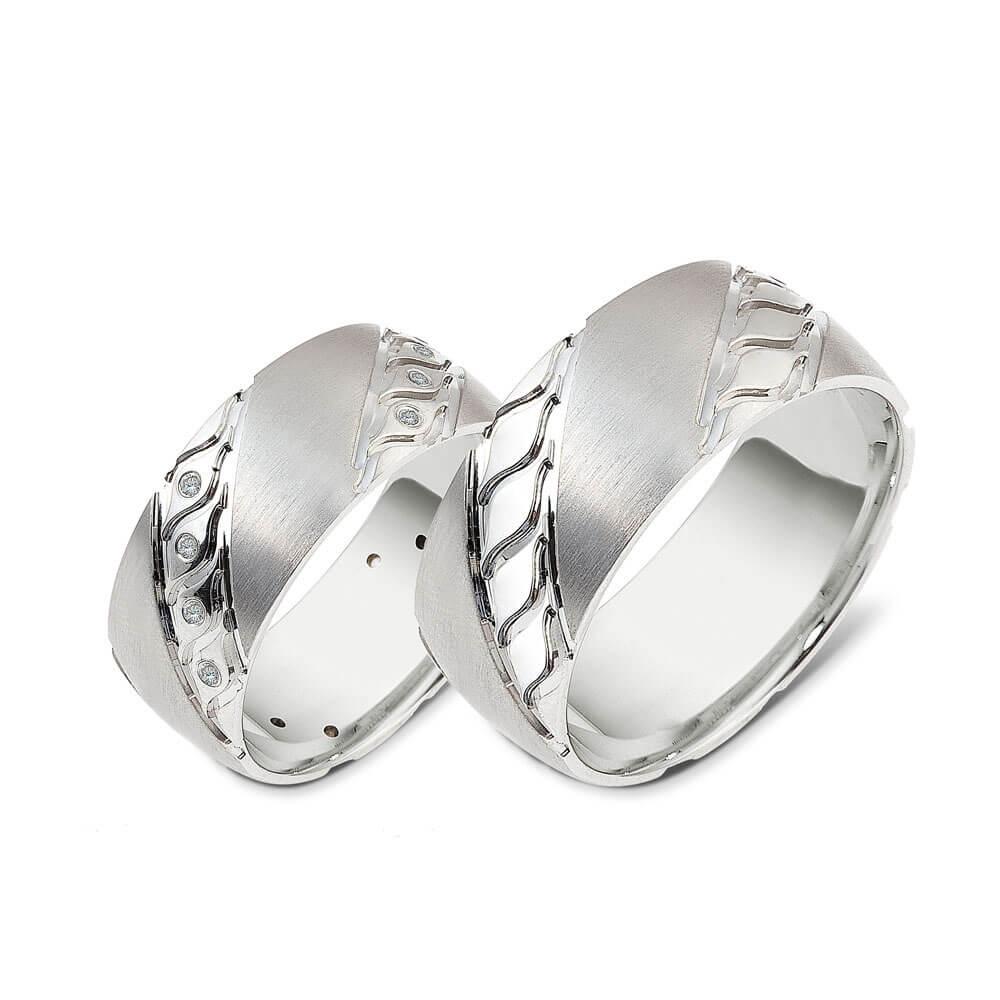 9ada3e9e4e Modern pair of silver wedding-rings THE PRECIOUS E1016 220€. Click to  enlarge