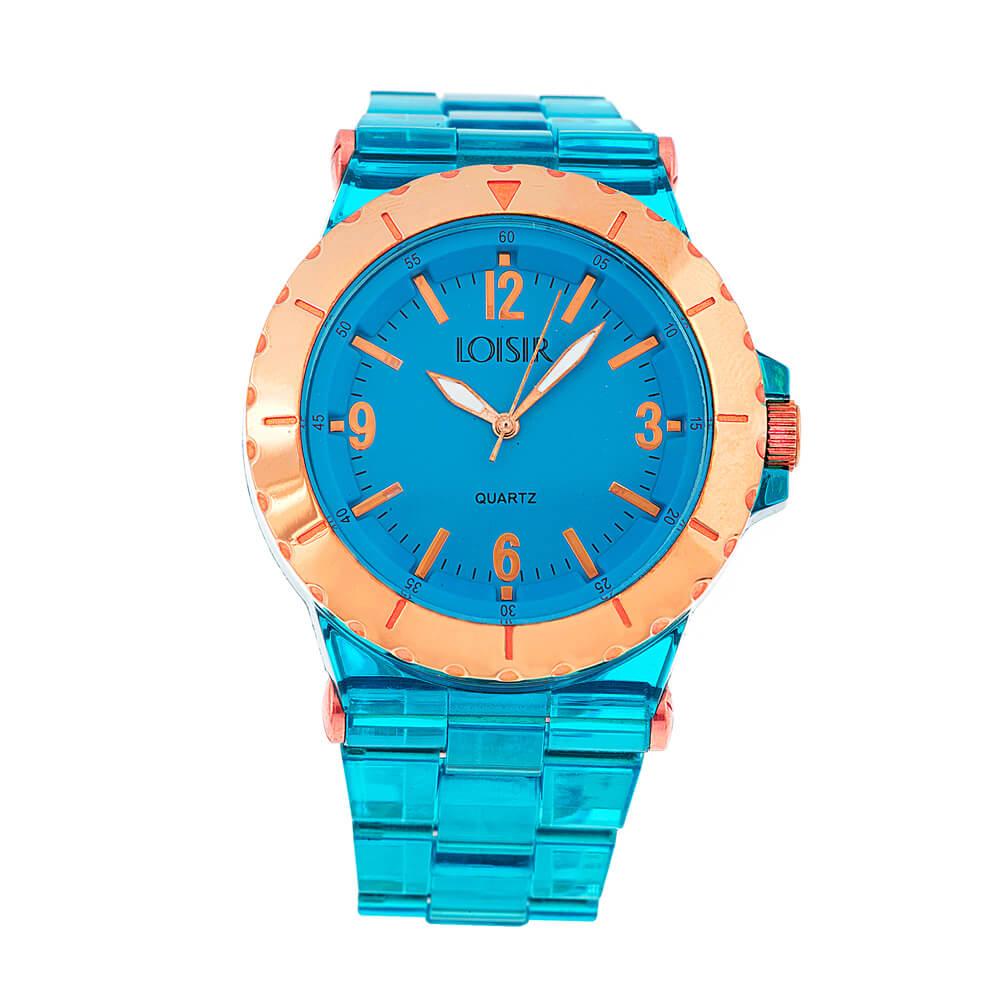 Ρολόι γυναικείο LOISIR 11L07-00204 με μπλε διάφανο πλαστικό μπρασελέ ... 1c3d795f221