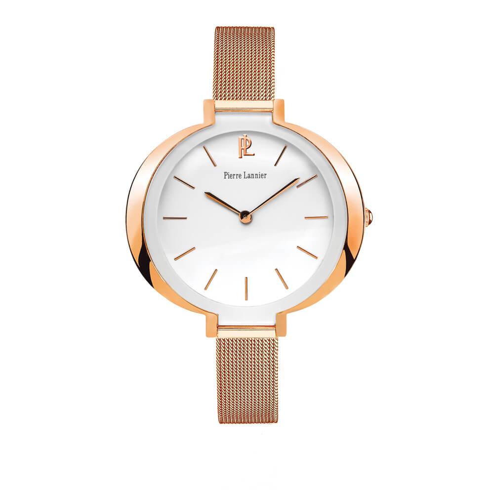 Γυναικείο ρολόι ροζ με μπρασελέ PIERRE LANNIER 009K908  1e9d8dd534a