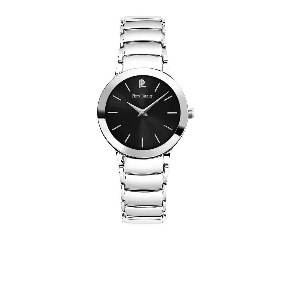Ρολόι γυναικείο με μπρασελέ και μαύρο καντράν PIERRE LANNIER 093K631 ... 8fb1db3f2ca