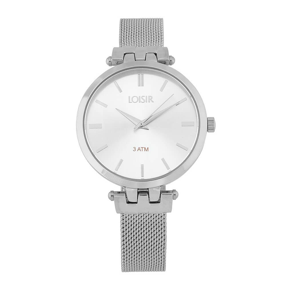 Ρολόι με γυναικείο ασημί μπρασελέ Jazz 11L03-00287 b92ac208494