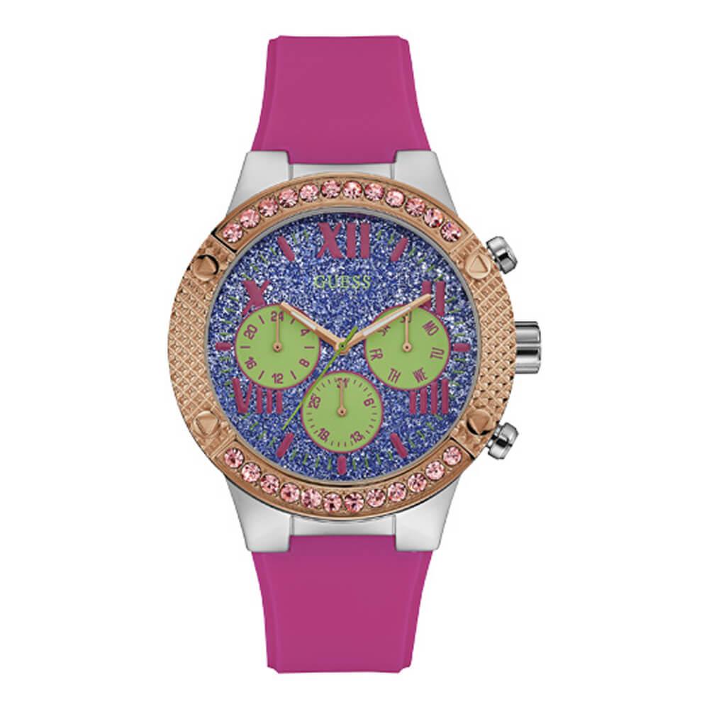 Γυναικείο ρολόι με λευκό λουράκι σιλικόνης GUESS W0772L6 209€ 125€.  -55%New. Click to enlarge b45ad14c553