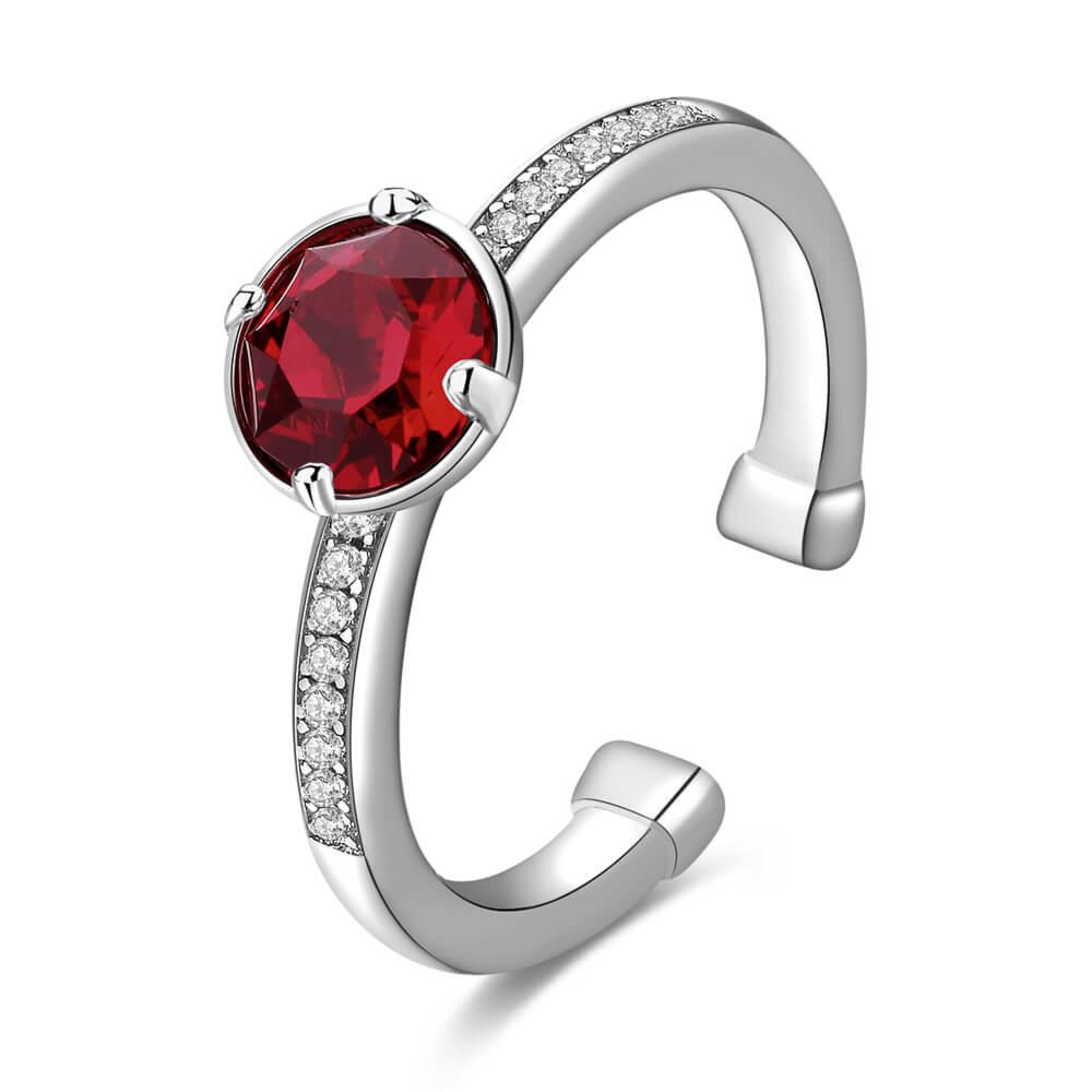 Γυναικείο ασημένιο δαχτυλίδι με ρουμπίνι Tring Argento BROSWAY ITALY ... 0486bda0348