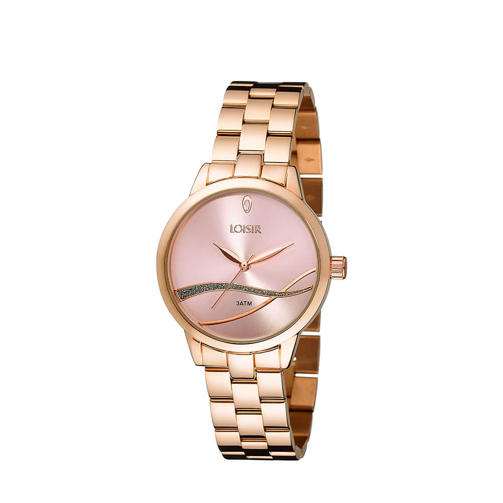 9e61f4e66 Ladies' watch with bracelet made of steel in rose gold Surf Watch LOISIR  11L05-00393