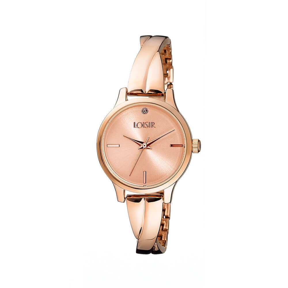c3ef475db Ladies' watch with bracelet in rose gold Twist Bangle Watch LOISIR  11L05-00408